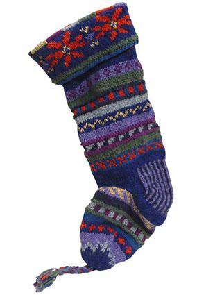 Taraluna Fair Trade Handknit Wool Christmas Stocking