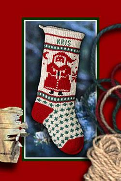 Santa Personalized Christmas Stocking at Annie's Woolens