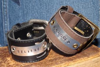 Stamped Belt Cuffs