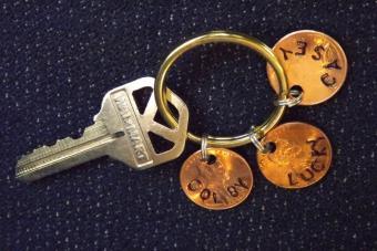 Lucky Penny Key Ring