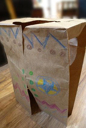 Cowboy paperbag vest