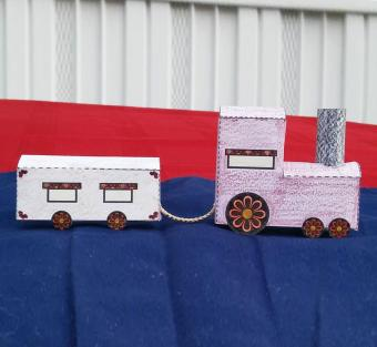 Paper Train Cutout Craft