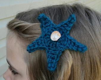 Starfish Hair Barrette