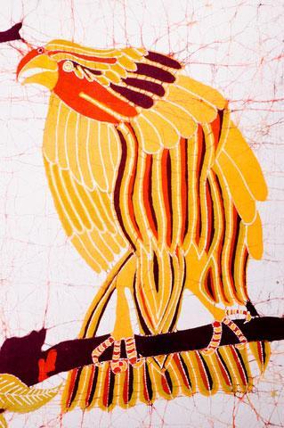 Decorative batik of bird