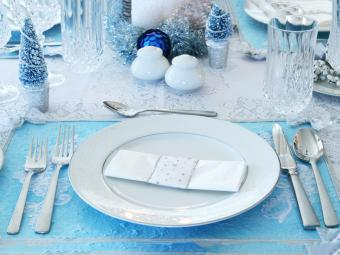 lace embellished placemat