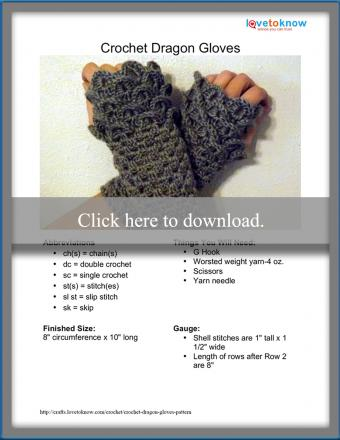 Dragon Gloves Pattern
