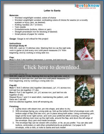 Letter to Santa Ornament Pattern