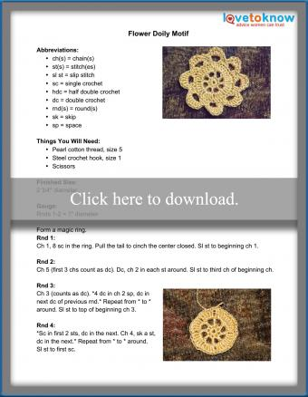 Flower Doily Pattern