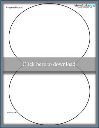 Paper pumpkin PDF pattern