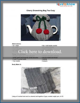 Cherry Drawstring Tea Cozy Pattern