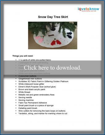 Snow Day Tree Skirt