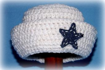 How to Crochet a Round Sailor Hat