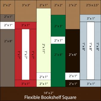 book quilt square pattern