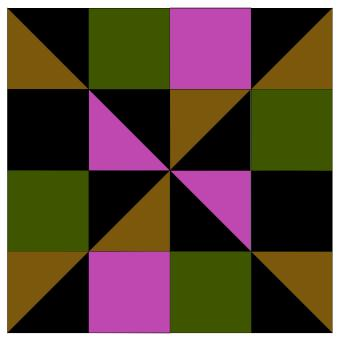 Dark quilt square pattern