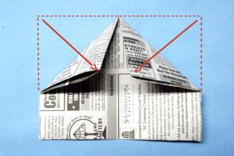Fold the corners down.
