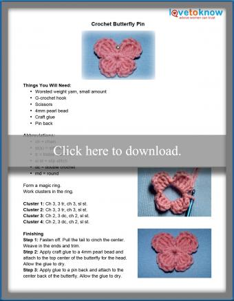 Butterfly Pin Pattern