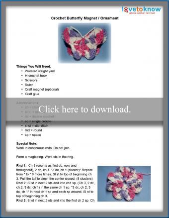 Butterfly Magnet Pattern