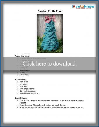 Crochet Ruffle Tree