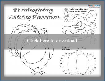 Printable Thanksgiving placemat 1