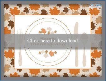 Printable Thanksgiving Placemat 2