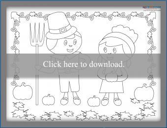 Free Printable Thanksgiving Placemats 3