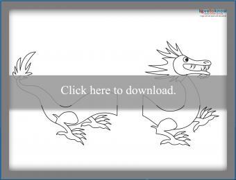 Printable Dragon Puppet