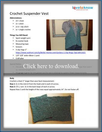 Crochet Suspender Vest Pattern