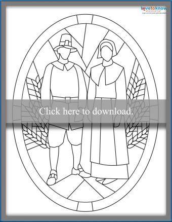 Pilgrim Stained Glass Pattern