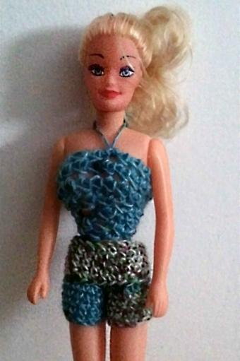 crochet top and shorts for barbie