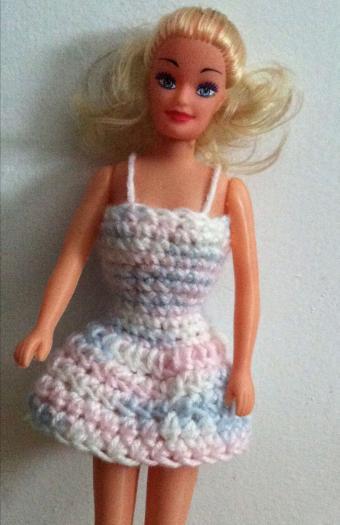 Completed Crochet Barbie Dress Pattern