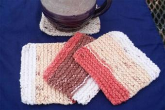Pattern for Knitting Coasters