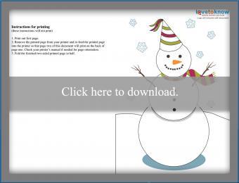 Snowman New Year's Card Design 3
