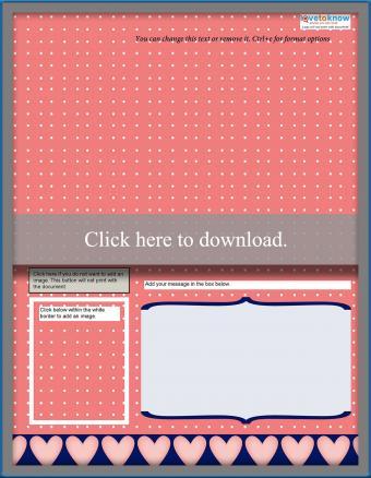 patterned printable pop up card