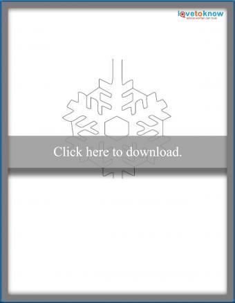 Snowflake card printable pdf