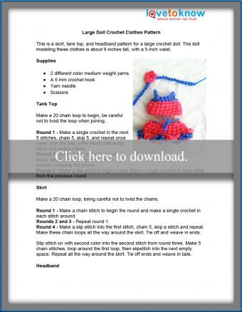 Large Doll Clothes Pattern