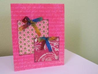 Handmade card with present design