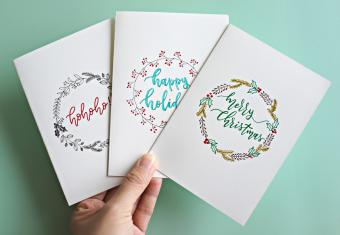 Christmas Cards made using software program