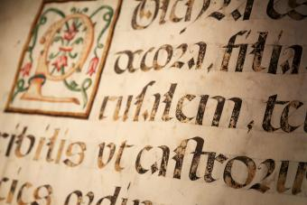 Parchment with some blackletter Latin writings