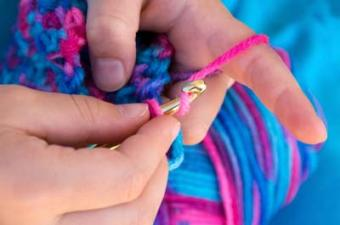 Learning to crochet is easy and fun.