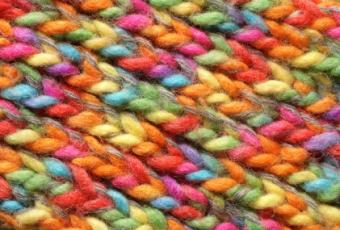 A colorful yarn pattern.