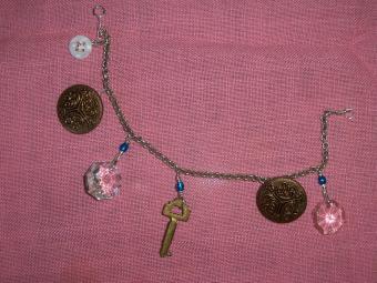 recycled items bracelet