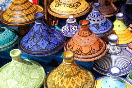 Moroccan painted pots