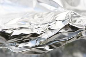 silver Mylar coffee bag