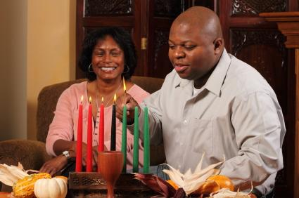 lighting candles for kwanza