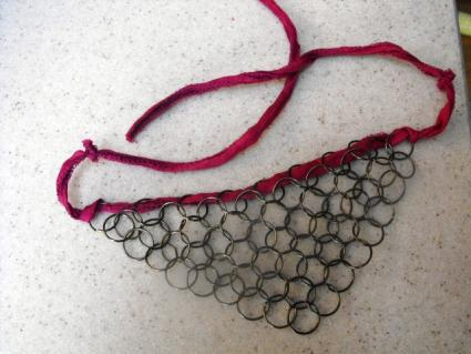 Chain maille choker