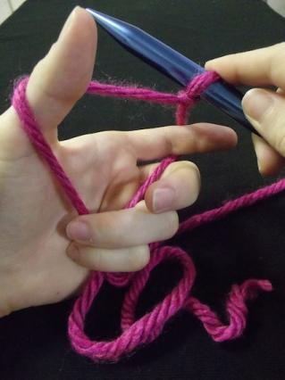 How to hold the yarn for casting on