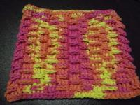 Shingled dish cloth pattern
