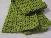 Honeycomb crocheted scarf