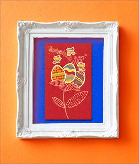 Photo Illustration of a Framed Easter Card