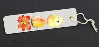 Photo illustration easter bookmark